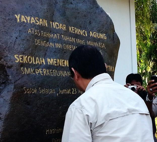 Ketua YAD  resmikan SMK YTKA Sungai Talang