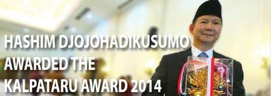 Hashim Djojohadikusumo Awarded the Kalpataru  Award 2014