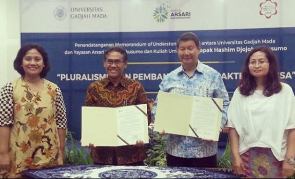Hashim Djojohadikusumo: Public Lecture on Pluralism and MoU Signing with UGM